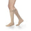 Sigvaris Opaque Women's 30-40 mmHg Knee High w/ Silicone Band Grip-Top, Light Beige (Crispa)