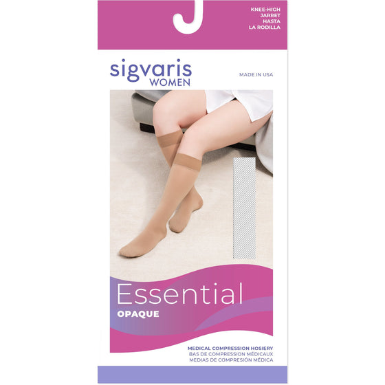 Sigvaris Opaque Women's 30-40 mmHg Knee High w/ Silicone Band Grip-Top