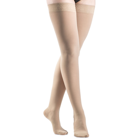 Sigvaris Opaque Women's 20-30 mmHg Thigh High, Natural