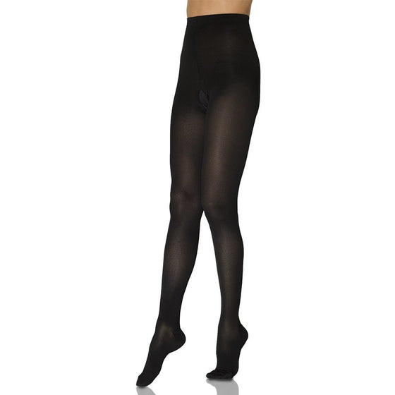 Sigvaris Opaque Women's 30-40 mmHg Plus Sized Pantyhose, Black