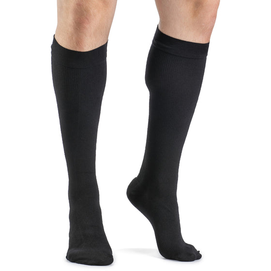 Dynaven Men's 15-20 mmHg Knee High, Black