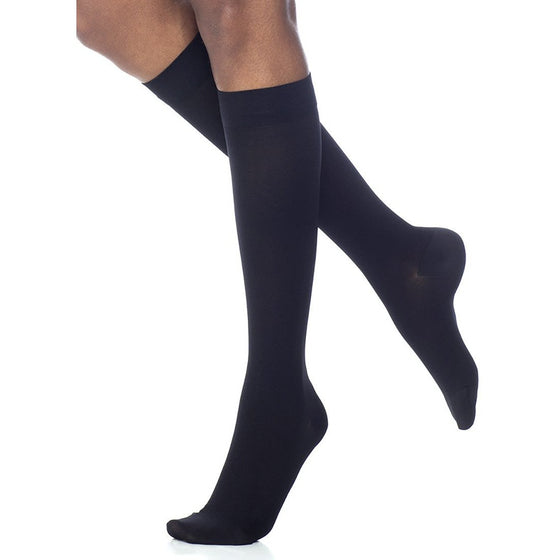 Dynaven Women's 15-20 mmHg Knee High, Black