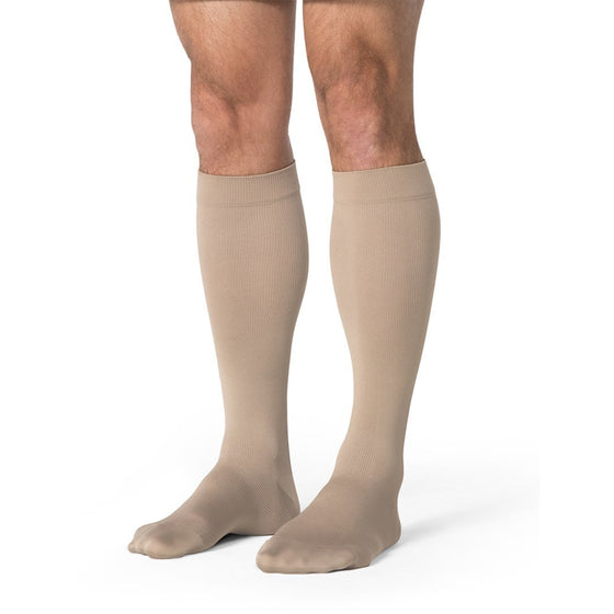 Sigvaris Opaque Men's 20-30 mmHg Knee High, Light Beige (Crispa)