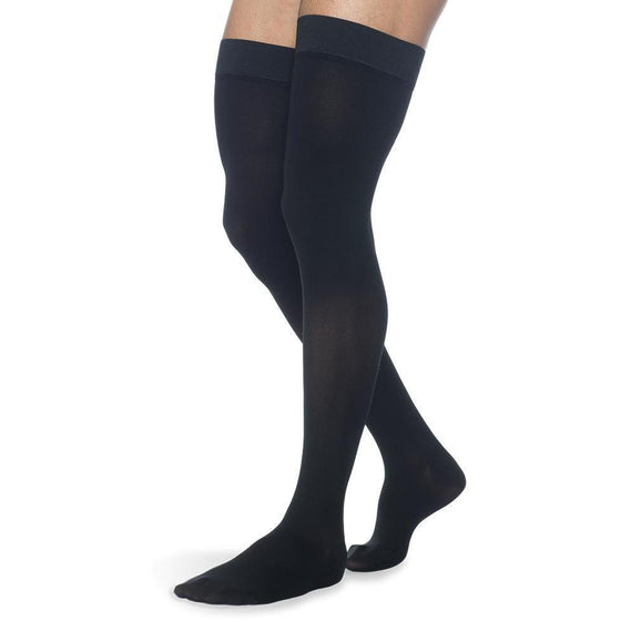 Sigvaris Secure Men's 30-40 mmHg Thigh High, Black