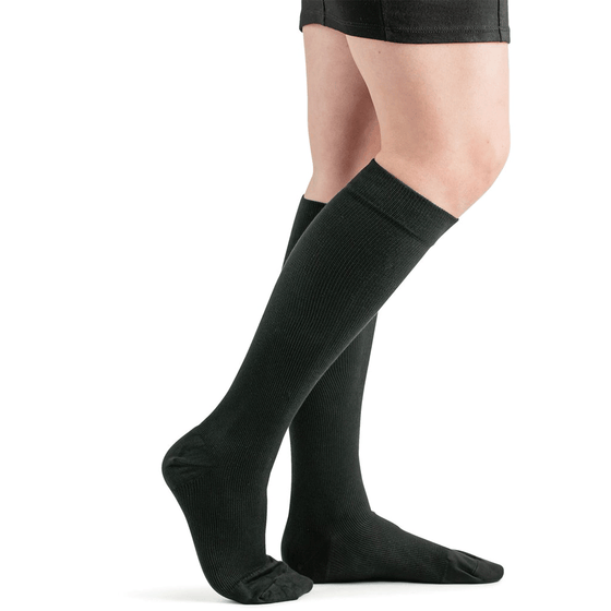 Actifi 20-30 Cotton Comfort Compression Socks, Black