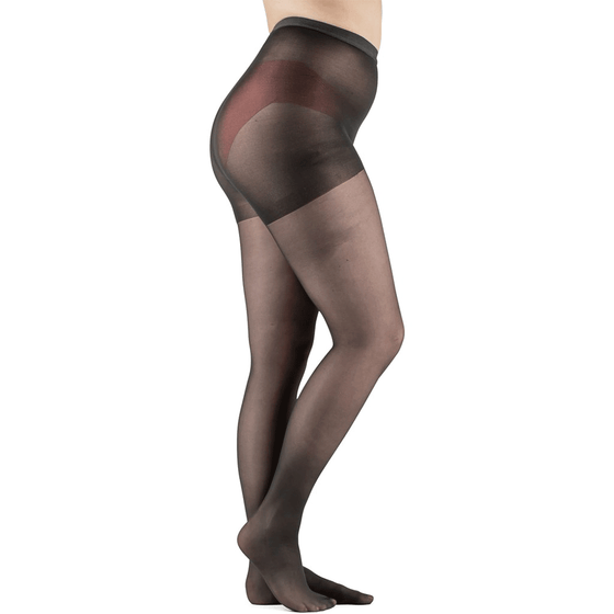 Actifi Women's 15-20 mmHg Sheer Pantyhose, Black