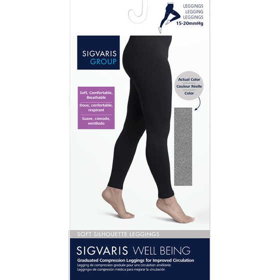 Sigvaris Soft Silhouette Women's 15-20 mmHg Hipster Leggings