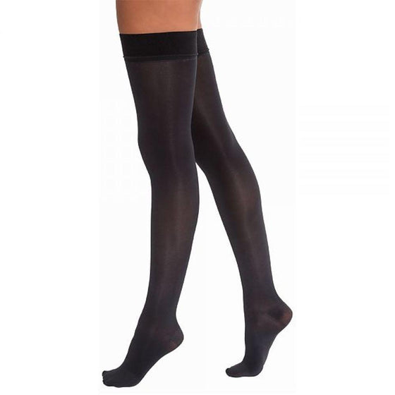 Jobst Opaque Women's 15-20 mmHg Thigh High w/ Silicone Dotted Top Band