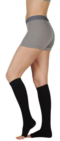 Juzo Women's Naturally Sheer 20-30 mmHg OPEN TOE Knee High