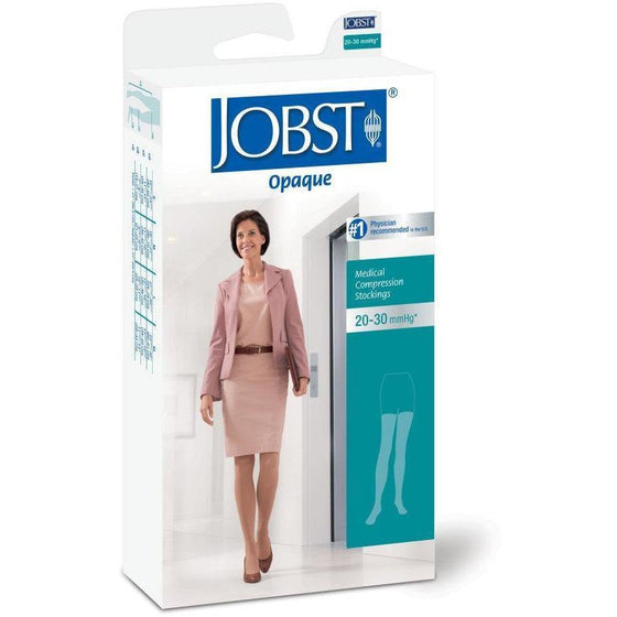 Jobst Opaque Women's 20-30 mmHg Thigh High w/ Silicone Dotted Top Band