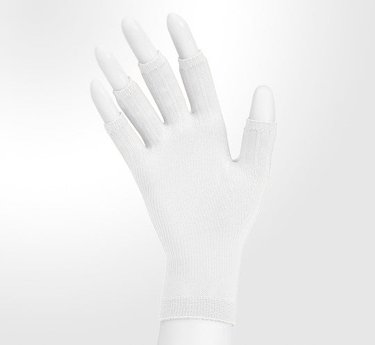 Juzo 15-20 mmHg Soft Seamless Glove, White
