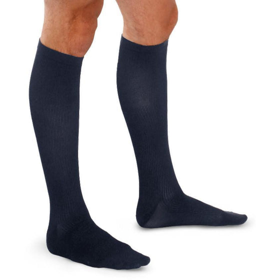 TherafirmLight Men's 10-15 mmHg Ribbed Knee High