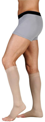 Juzo Dynamic 20-30 mmHg OPEN TOE Knee High w/ 3.5 cm Silicone Top Band