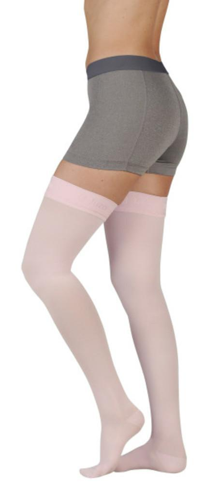 Juzo Women's Naturally Sheer 30-40 mmHg Thigh High w/ Silicone Top Band