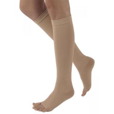 Sigvaris 505C Natural Rubber 50-60 mmHg OPEN TOE Knee High
