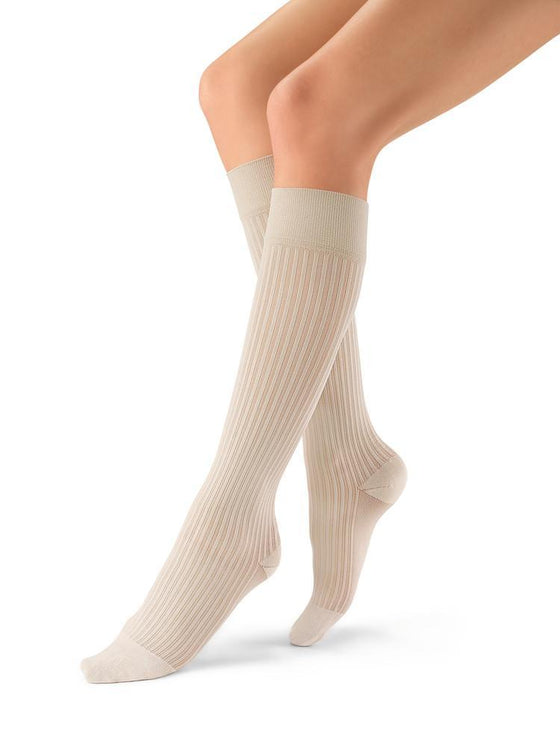 Jobst soSoft Women's 8-15 mmHg Ribbed Knee High