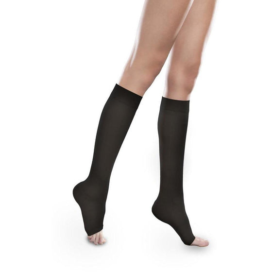 Therafirm Sheer Ease Women's 30-40 mmHg OPEN TOE Knee High