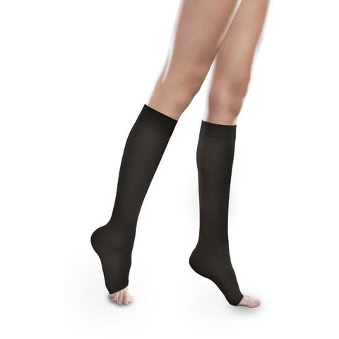 Therafirm Sheer Ease Women's 15-20 mmHg OPEN TOE Knee High