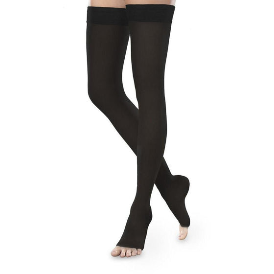 Therafirm Sheer Ease Women's 30-40 mmHg OPEN TOE Thigh High
