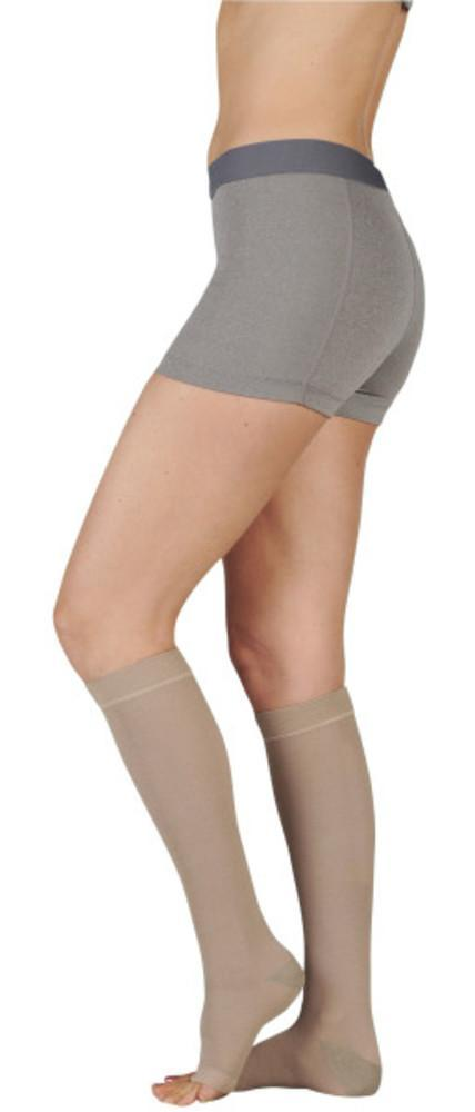 Juzo Women's Naturally Sheer 15-20 mmHg OPEN TOE Knee High