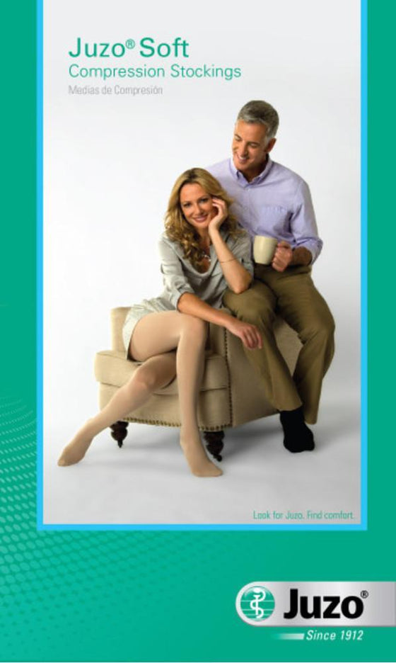 Juzo Soft 20-30 mmHg OPEN TOE Pantyhose w/ Fly