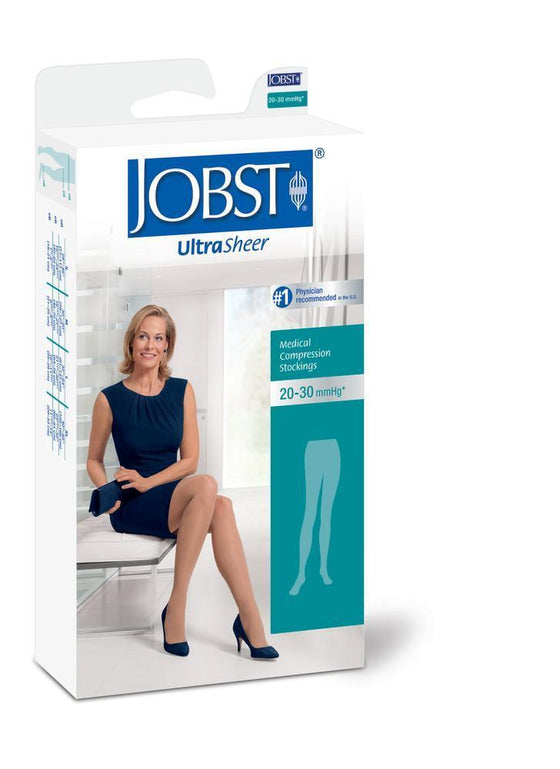 Jobst UltraSheer Women's 20-30 mmHg Waist High
