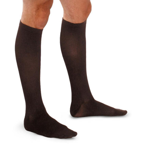 Therafirm Men's 15-20 mmHg Ribbed Knee High