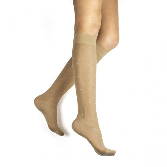 Rejuva Sheer Dot Women's 15-20 mmHg Knee High
