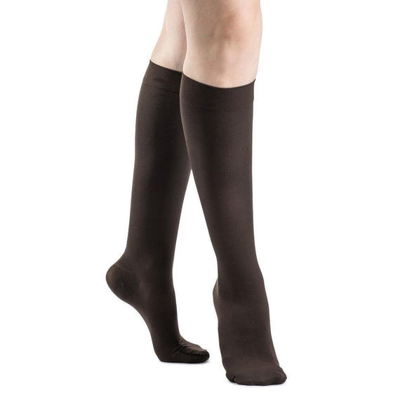 Sigvaris Soft Opaque Women's 20-30 mmHg Knee High, Espresso