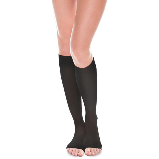Therafirm Sheer Ease Women's 20-30 mmHg OPEN TOE Knee High