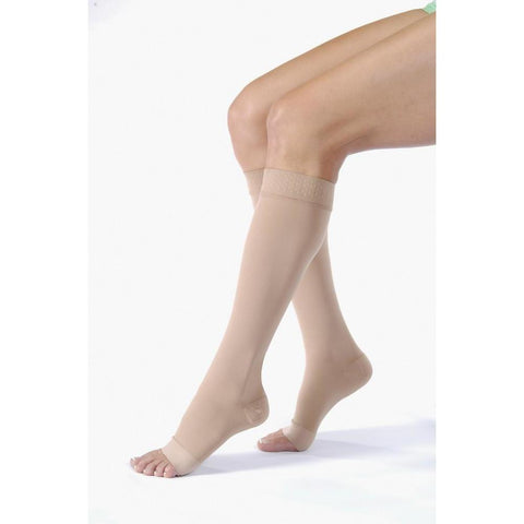 Jobst Relief 20-30 mmHg OPEN TOE Knee High w/ Silicone Top Band