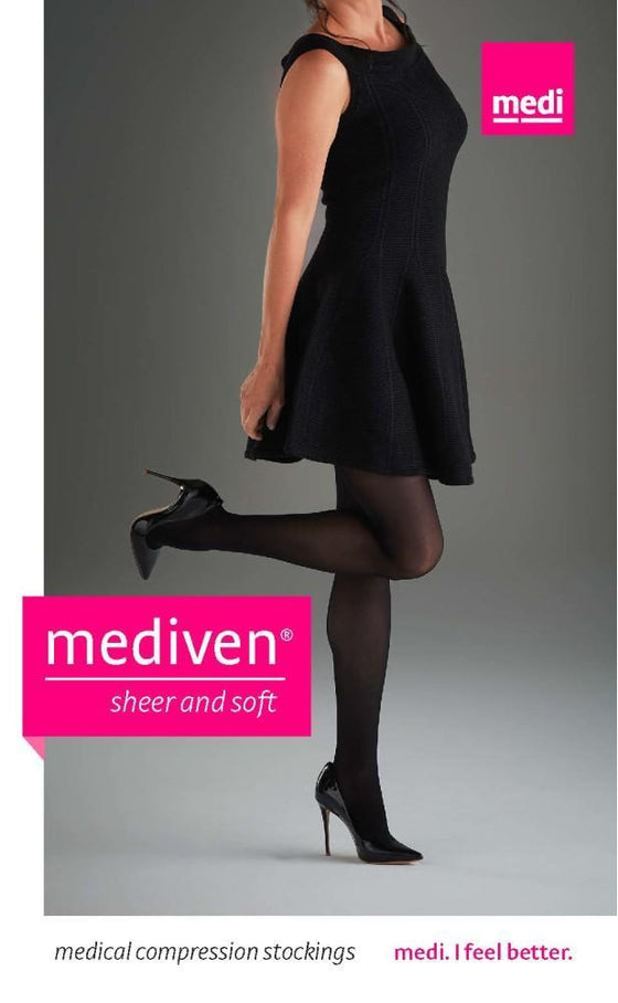40025d475a73b Mediven Sheer & Soft Women's 15-20 mmHg OPEN TOE Pantyhose – Support ...