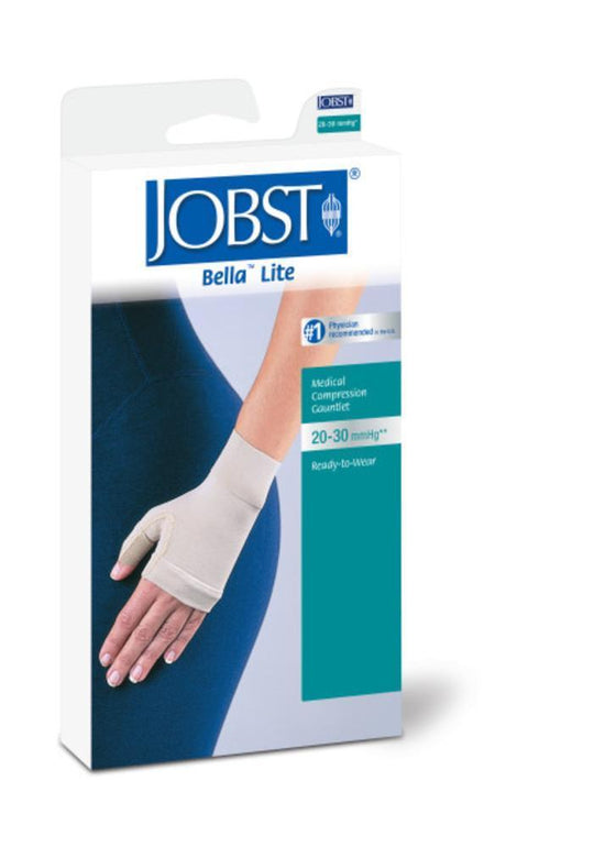 Jobst Bella Lite 20-30 mmHg Combined Armsleeve & Gauntlet w/ Silicone Dot Band