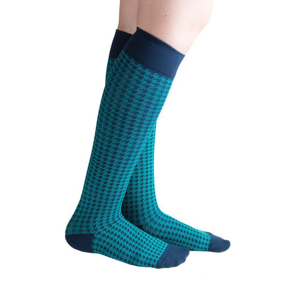 VenaCouture Women's Bold Houndstooth 15-20 mmHg Compression Sock