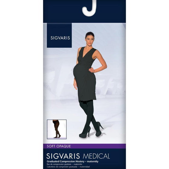 Sigvaris Soft Opaque Women's 15-20 mmHg Maternity Pantyhose