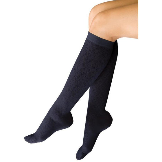 TherafirmLight Women's 10-15 mmHg Diamond Patterned Knee High