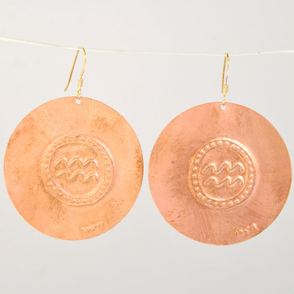 Aquarius Zodiac Earrings