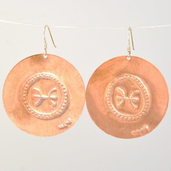 Pisces Zodiac Earrings