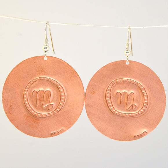 Virgo Zodiac Earrings