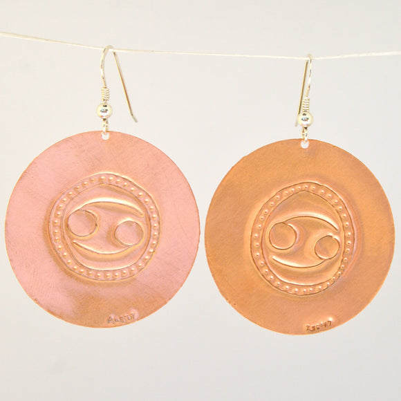 Cancer Zodiac Earrings