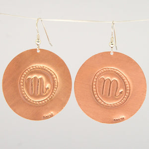 Scorpio Zodiac Earrings
