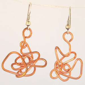 Abstract Wire-Sculpture Earrings