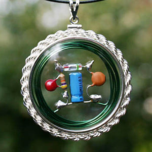 Fertility CQR Amulet with real-rope, hand-braided Sterling Silver bezel