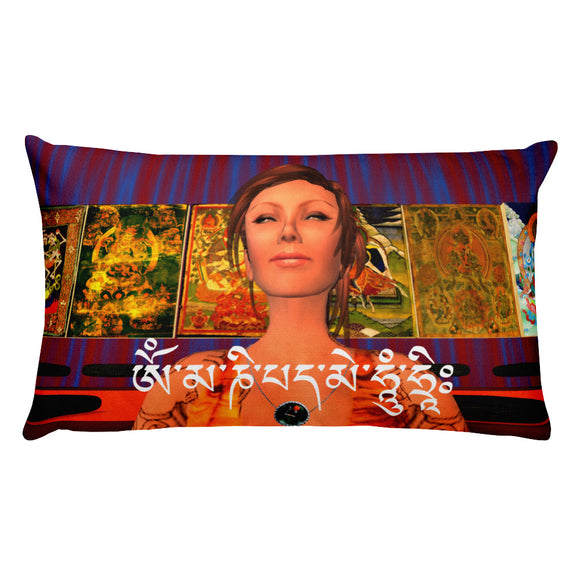 Om Mani Padme Hum Rectangular Pillow