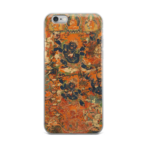 Mahakala Thangka iPhone 5/5s/Se, 6/6s, 6/6s Plus Hybrid Case