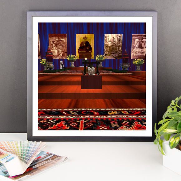 Chen-Rig Temple Framed Poster