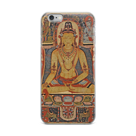 Jina Buddha Ratnasambhava Thangka iPhone 5/5s/Se, 6/6s, 6/6s Plus Hybrid Case