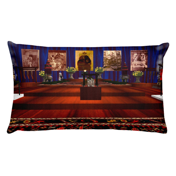 Chen-Rig Temple Rectangular Pillow