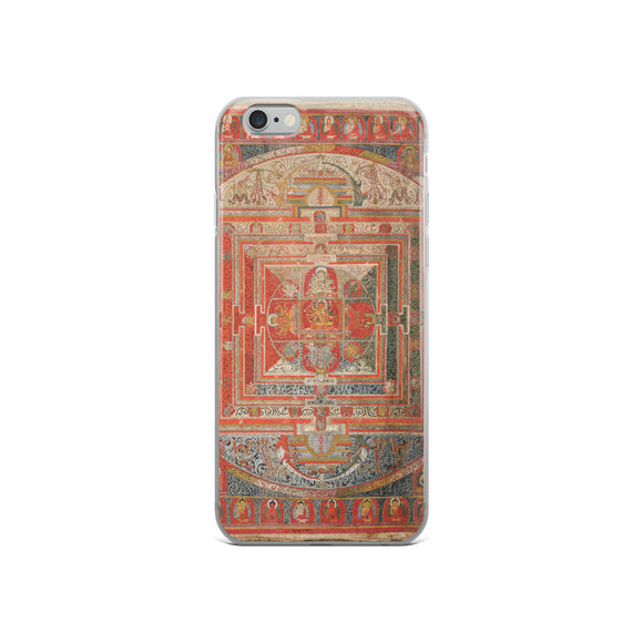 Manjuvajra Mandala Thangka iPhone 5/5s/Se, 6/6s, 6/6s Plus Hybrid Case