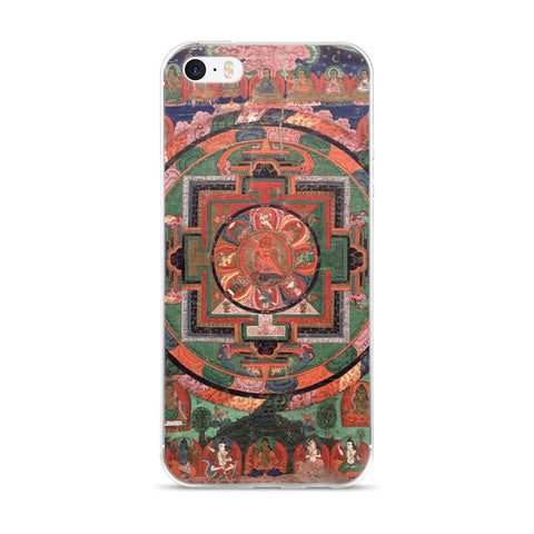 Tibetan Five Deity Mandala iPhone 5/5s/Se, 6/6s, 6/6s Plus Hybrid Case